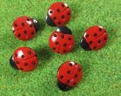 Medium Red Ladybug Novelty Buttons