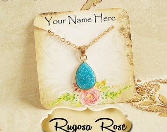 24•RUGOSA ROSE•Necklace and Earring Cards•Tag•Jewelry Cards•Necklace Card•Display•Earring Holder•Necklace Holder•2x2 or 3x3