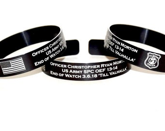 Officer Christopher Ryan Morton Memorial Bracelet / Clinton Police Deptartment