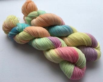 Fizzers Hand Dyed Superwash BFL/ Nylon Sock Yarn