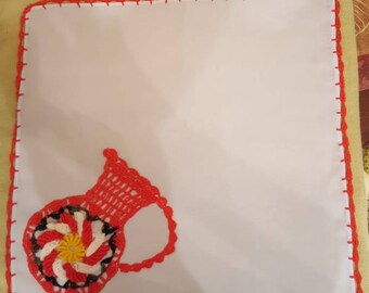 Hand made embroidery, BORDADO hecho a mano,Tortillero/NAPKIN