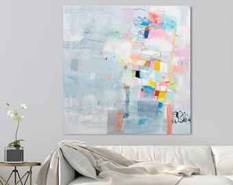 Abstract Painting, large canvas art, original canvas painting, abstract art, Contemporary art, modern painting, gift for her. DUEALBERI