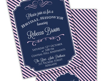 PREPPY AFFAIR   Bridal Shower Birthday Baby Shower Printable Party Invitation - Printing Available