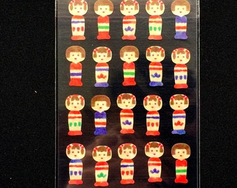 Japanese Stickers - Kokeshi Dolls - Kokeshi Stickers - Traditional Stickers   (S249)
