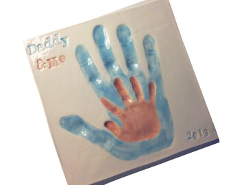 Daddy and Me Clay Handprint Keepsake