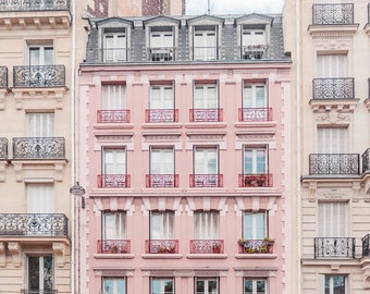 Pink Photo Paris, Pink Wall Art, Paris Photography, Paris Wall Art, Wall Art Print, Paris Art, Paris Artwork, French Photo, Paris Print