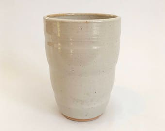 Made to Order // Hand thrown white ceramic tumbler // handmade pottery cup // wheel thrown pottery // water glass // juice cup