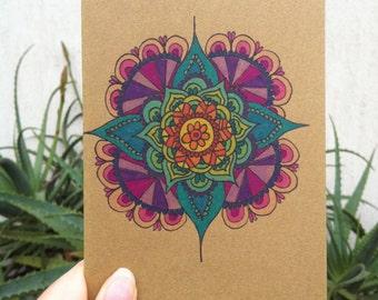 Rainbow Mandala Greeting/Birthday/Wedding Card