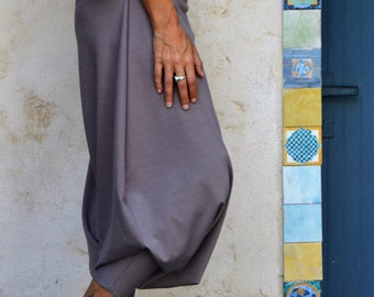 Harem Pants, Drop Crotch Pants, Womens Trousers, Loose Pants, Yoga Pants Women, Stretch Pants, Wide Pants, Handmade Clothing, Womens Pants