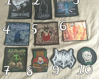 Metal Bands patches