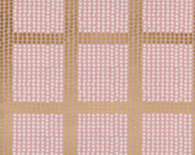 PRESALE: The Avenues in Rose Gold (cotton METALLIC) from Imagined Landscapes by Jen Hewett for Cotton + Steel