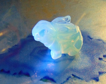 """Gorgeous"""" Hand Carved Rabbit...Meet """"Rolly"""" Rabbit Hand Carved Opal"""