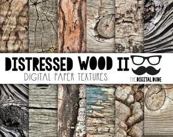 Premium Digital Paper Set, Distressed Wood Grain, Scrapbook Paper, Digital Paper, Distressed Wood Textures, Instant Download