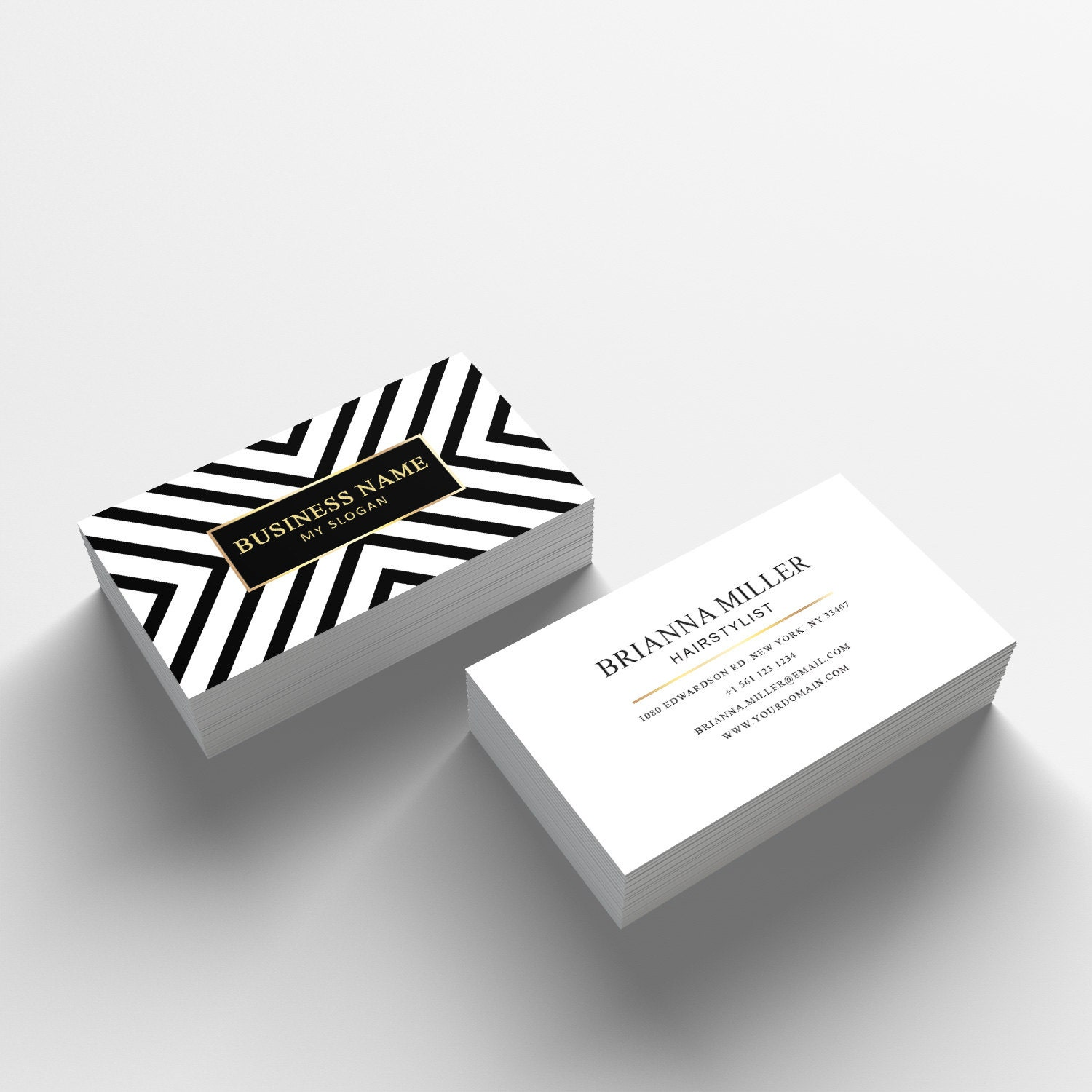 Business Card Template Sided Business Card Design - Appointment business card template