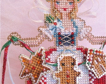 Brooke's Books Gretel, The Gingerbread Angel Ornament INSTANT DOWNLOAD Cross Stitch Chart