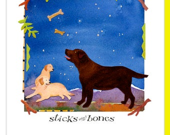 Chocolate Lab Note Cards