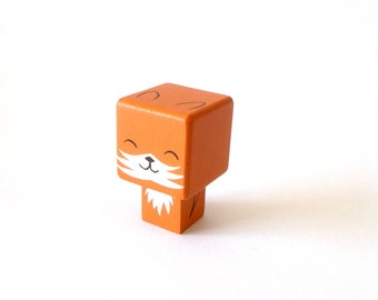 "Magnet  figurine cubique ""Renard"""