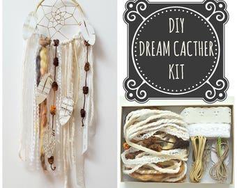 DIY Dream Catcher Kit Craft Project Make Your Own Boho Decor Birthday Gift Bridesmaids Gifts Boho Dreamcatcher