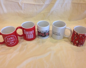"Stomp - 42nd Street - Sweeney Todd - Fame Becomes Me - Little Women Broadway Musical Coffee Mugs ""Rare"""