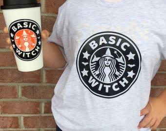 Basic Witch Shirt - Basic Witch Coffee Mug - Basic Witch Combo Set - Halloween Shirt - Halloween Coffee - Witch Coffee