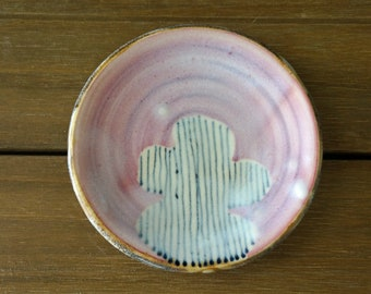 Small Pottery Ring Dish - Pottery Ring Plate - Ceramic Ring Bowl - Mother's Day Gift - Wedding Gift - Bridesmaid Gift - Gift for Her