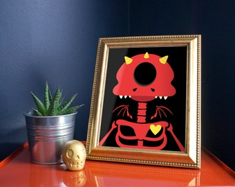 Cutest Demon 11x14 Art Print by Odds And Aliens