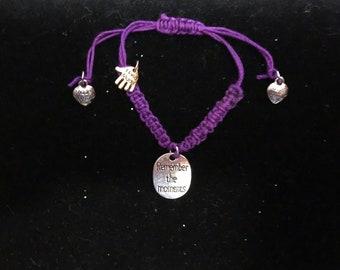 Cancer Awareness Bracelets.