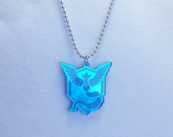 Pokemon GO Team Mystic Necklace or Keychain