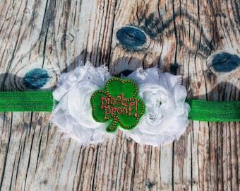 St. Patricks Day Headband - Toddler Headband - Baby Headband - Green Headband - st. Patricks day headband baby - Shamrock Headband -