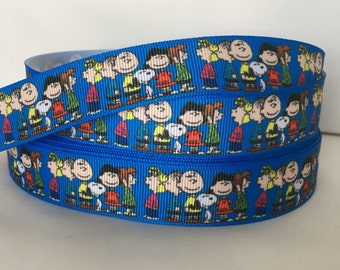 5 YDS Peanuts Ribbon - Snoopy - Lucy - Charlie Brown