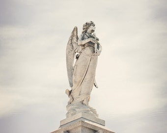 new orleans art cemetery photograph angel statue still life photography new orleans photography NOLA Angel 1