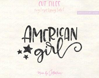 American Girl Svg, 4th of July Svg, fourth of july svg, independence day, svg files, Patriotic Svg, svg files for cricut, memorial day svg