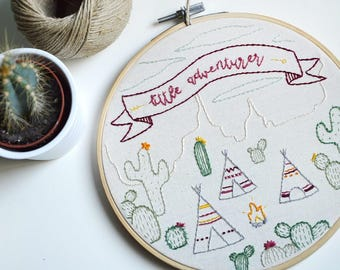 Decorative embroidery nursery and Baby - Little Adventurer