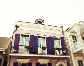New Orleans Photography French Quarter Purple Shutters