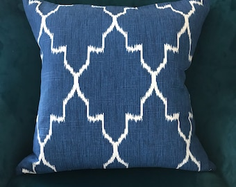 Indigo and white pillow cover ,blue and white pillow cover
