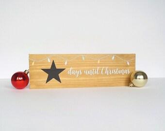 Christmas Countdown Chalkboard Sign - Christmas Coundown Plaque - Days Until Christmas Sign - Chistmas Ornament - Christmas Room Decoration