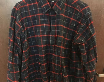 vintage label flannel XL (free US shipping)