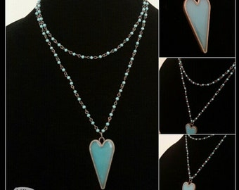 Heart Resin Necklace