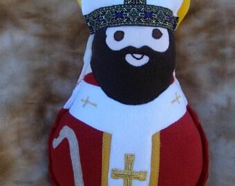 Saint Doll St Thomas Becket Soft Catholic Religious Toy