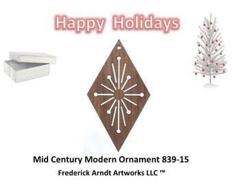 839-15 Mid Century Modern Christmas Ornament