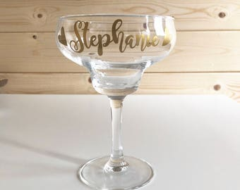 Bespoke Name Margarita Glass, Bespoke Margarita Glass, Glassware, Cocktail  Glass, Personalised Name