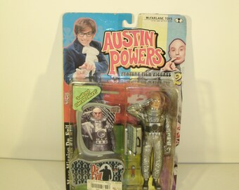 Austin Powers Dr. Evil Moon Mission Action Figure Toy Unopened In Package McFarlane Toys Series 2