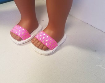 "American Girl Doll Sandals, cute pink shoes that 18"" dolls"