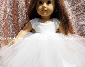 "Fits American Girl Dolls Clothes, Matching Dress, Flower Girl Gift, Flower Girl Doll Dress, Doll Dress, Babydoll Dress, 18"" doll dress"