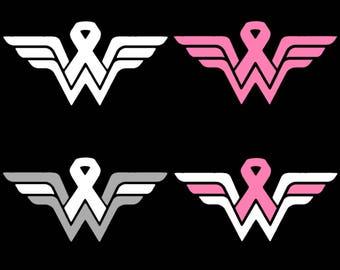 Wonder Woman Awareness Ribbon Decal