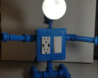 Mr Electric robot light with USB ports