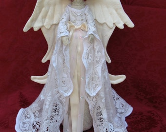 Heavenly Angel - Mailed Cloth Doll Pattern- 18in Beautiful Holiday Heavenly Angel