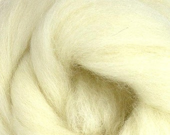 JACOB SHEEP ROVING British~ White~ natural roving, felting supplies, weave ~ combed top, wool roving, dreadlocks, felt making, spinning yarn