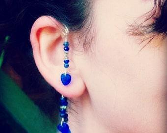 Fantasy Elemental Ear Cuff Wrap Blue Lagoon
