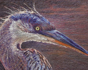 Heron, Herons Egret Art, Blue Heron Wall, Painting Heron, Great Blue Heron Art, Fine Art Print